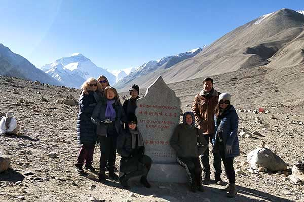 Tourists at Everest Base Camp in October