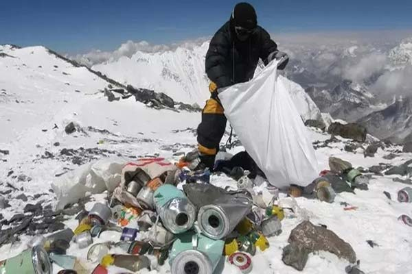 Workers Collecting Garbage at Everest