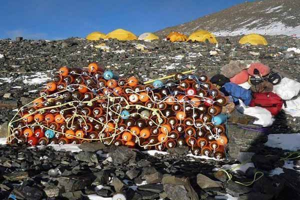 Disused Oxygen Tanks at Mount Everest