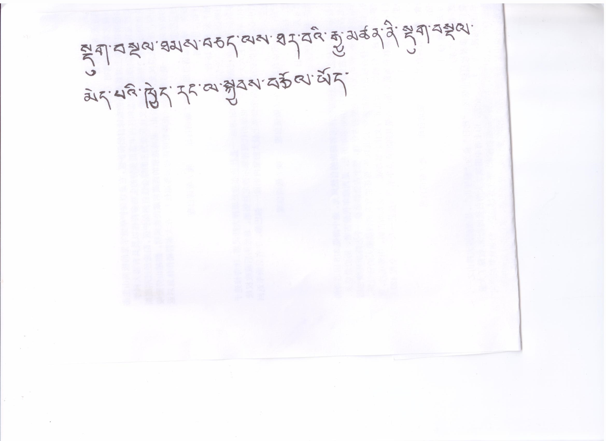 reviews, feedback for tibet tour, feedbacks, translation, tibetan handwriting