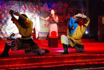 Lhasa singing and dancing show, Lhasa show, lhasa guozhuang